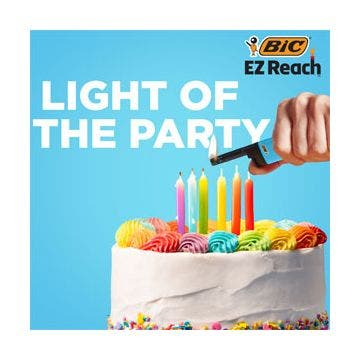 BIC EZ Reach Lighter, Home Decor, 3-Pack (Assortment of Designs will Vary)