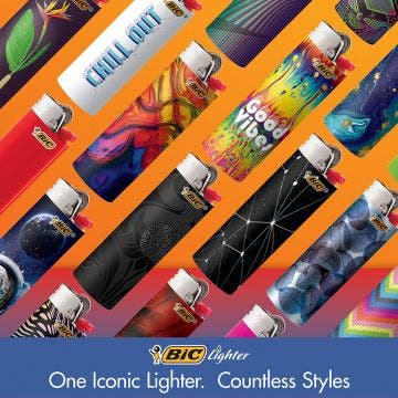 BIC Special Edition Blown Glass Series Lighters, Set of 8 Lighters