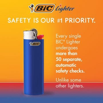 BIC Classic Lighters, Assorted, 50-Count Tray