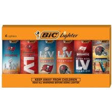 BIC Super Bowl LV Champions Series Lighters, Assorted, 6 Pack