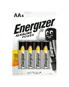 Piles Alcalines Energizer Power AA/LR6 x4