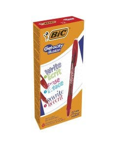 Penna gel cancellabile BIC Gelocity Illusion Rossa