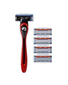 BIC Shave Club 5 Blades Neo -  Starter Kit - 1 red handle + 4 Refills of 5-blades razor cartridges