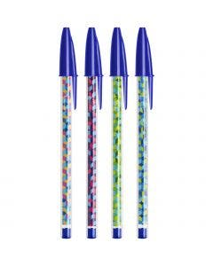 BIC Cristal Collection Ballpoint Pens Medium Point (1.0 mm) - Blue, Pack of 4