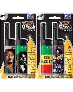 BIC EZ Reach Bob Marley Series Lighters, Assorted, 4-Pack