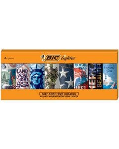 BIC Special Edition Americana Series Lighters, 8-Count