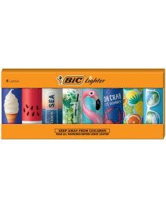 BIC Special Edition Pocket Vacation Series Lighters, 8-Count